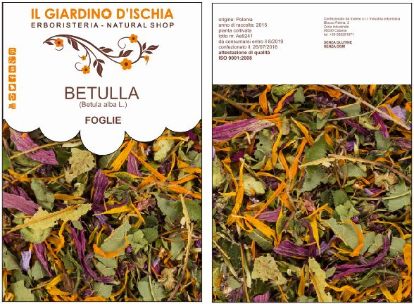 packaging delle tisane