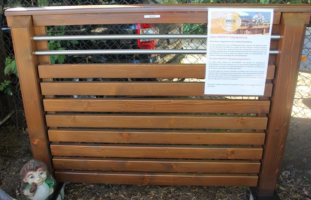 Holz Balkongeländer Madrid