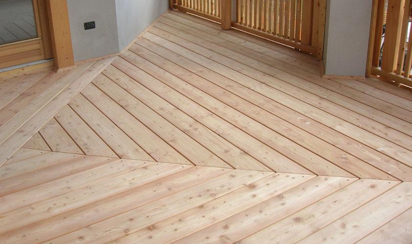 Balkonboden Holz