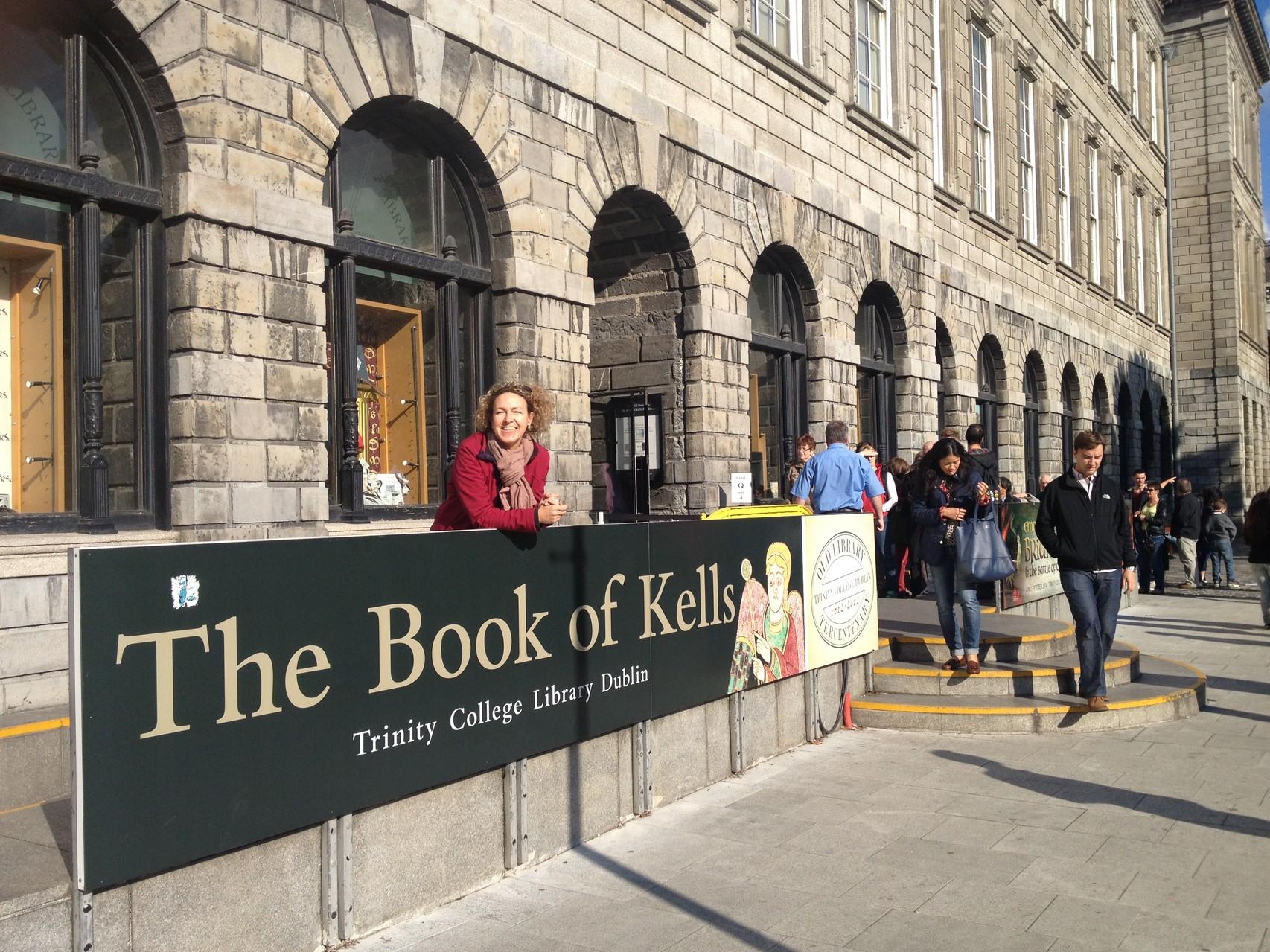 Ziel: das Book of Kells, eines der schönsten Bücher der Welt