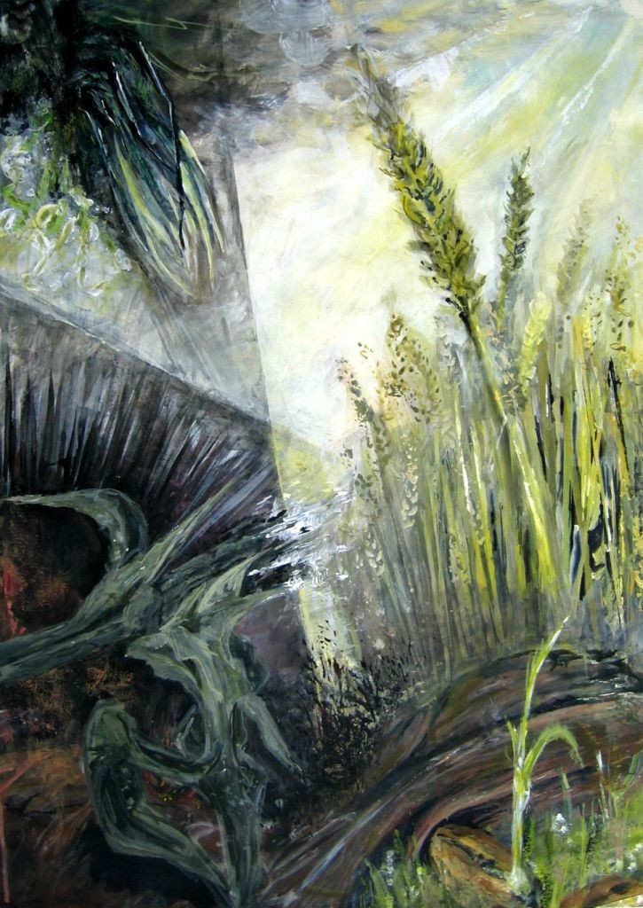 Samenkorn (Malkarton, 40x60cm)