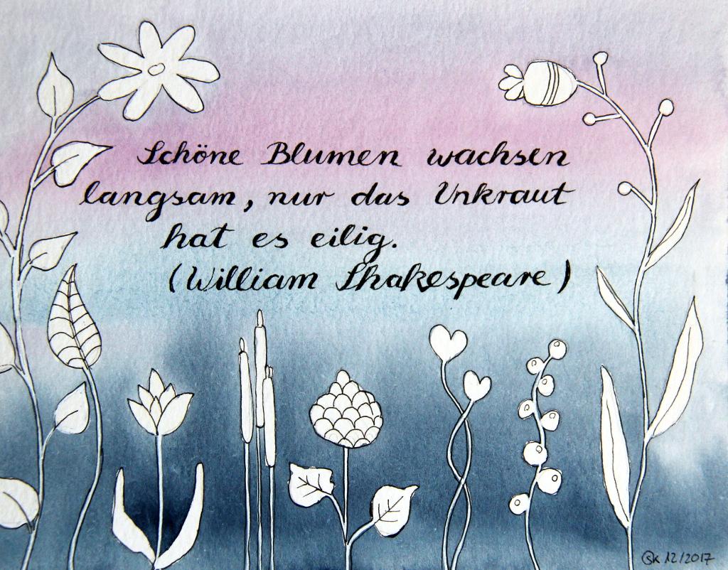 Blumen und Unkraut (Aquarellpapier, DIN A5)