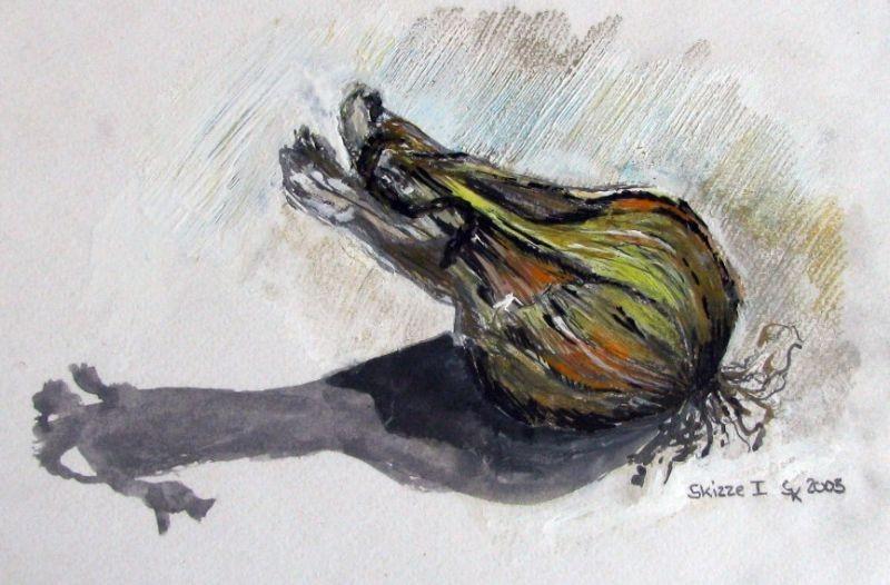 Zwiebel (Zeichenkarton, 10x14cm)