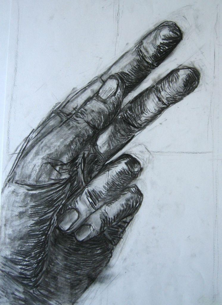Hand I (Zeichenpapier, DIN A2)