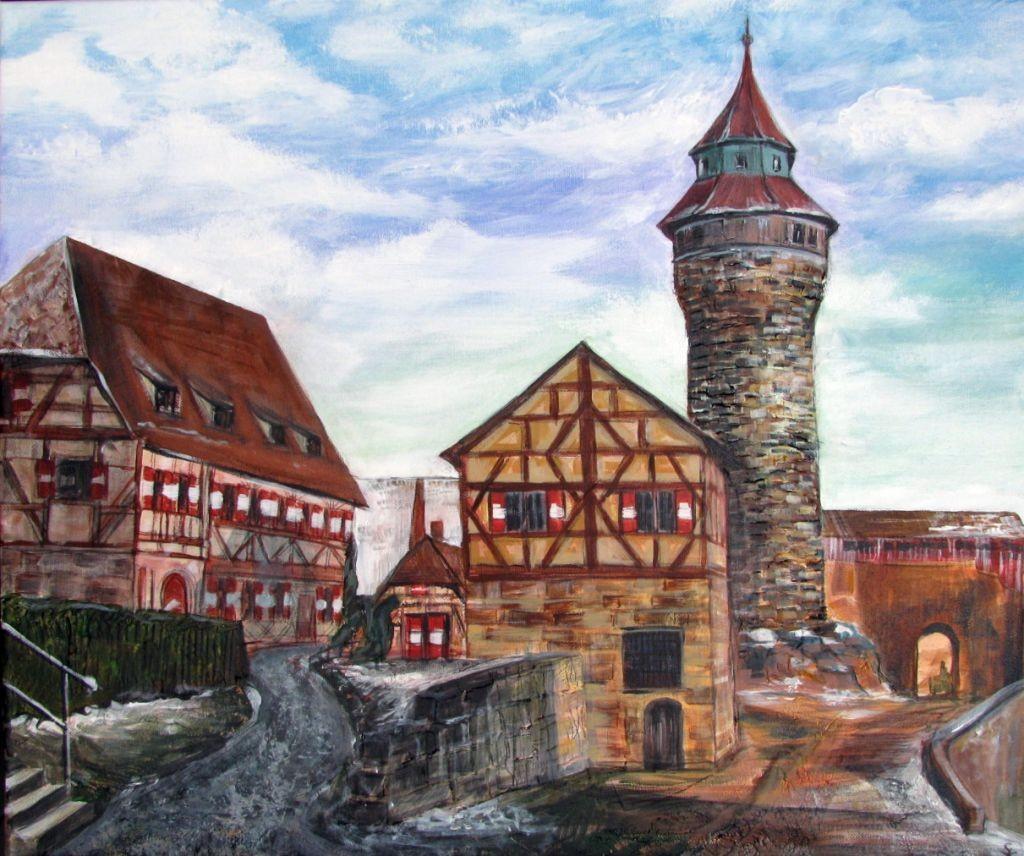 Burg Nürnberg (Leinwand, 50x60cm)