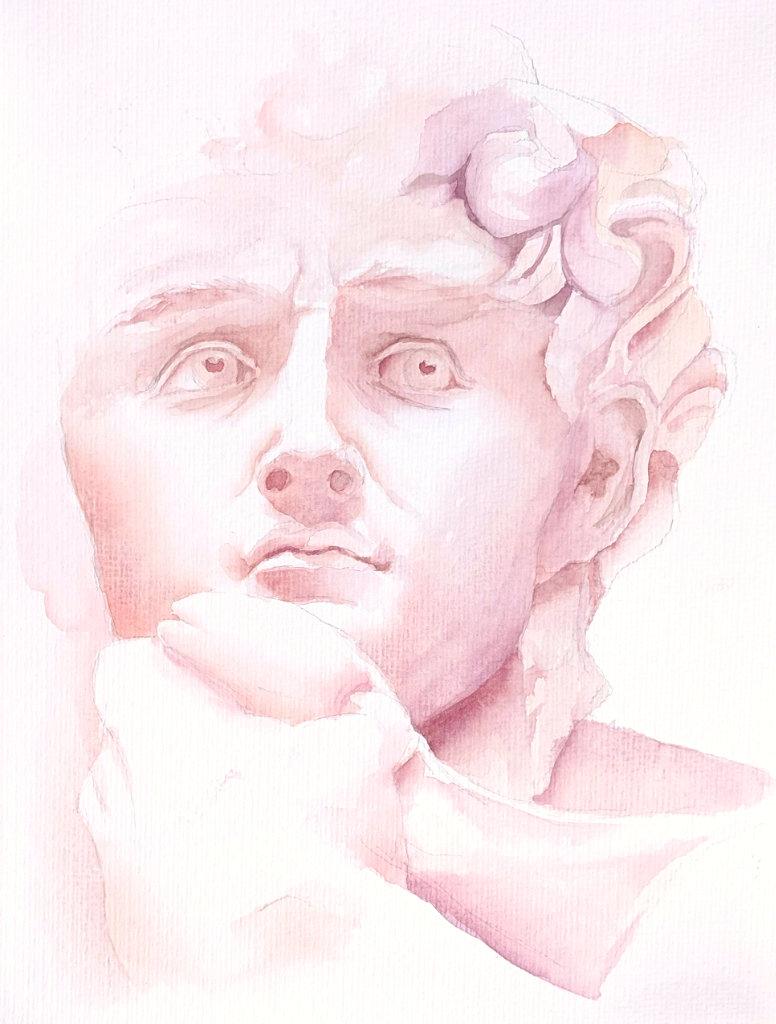 David (Aquarellpapier, 24x32cm)