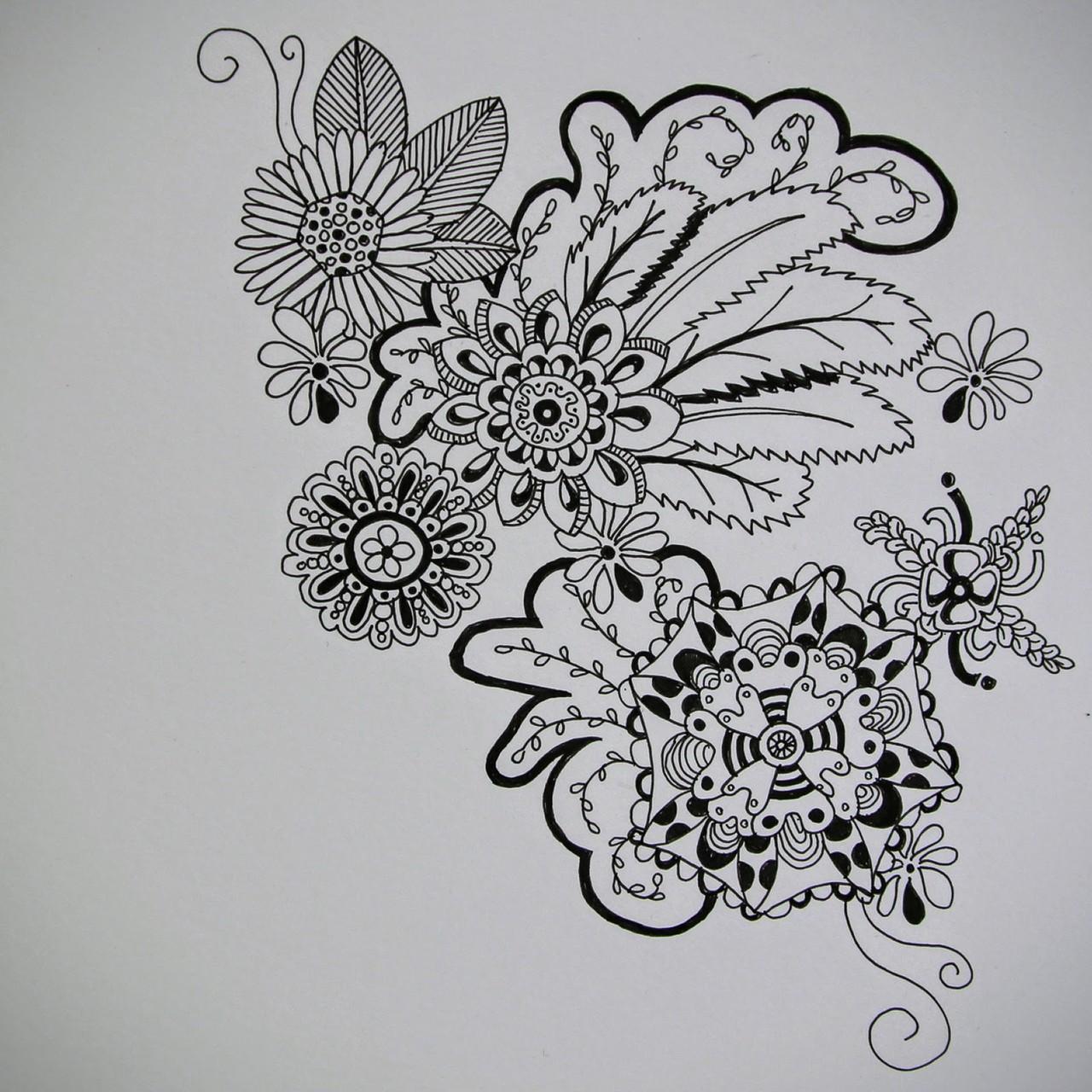 Blumen (Zeichenpapier, 21x29cm)