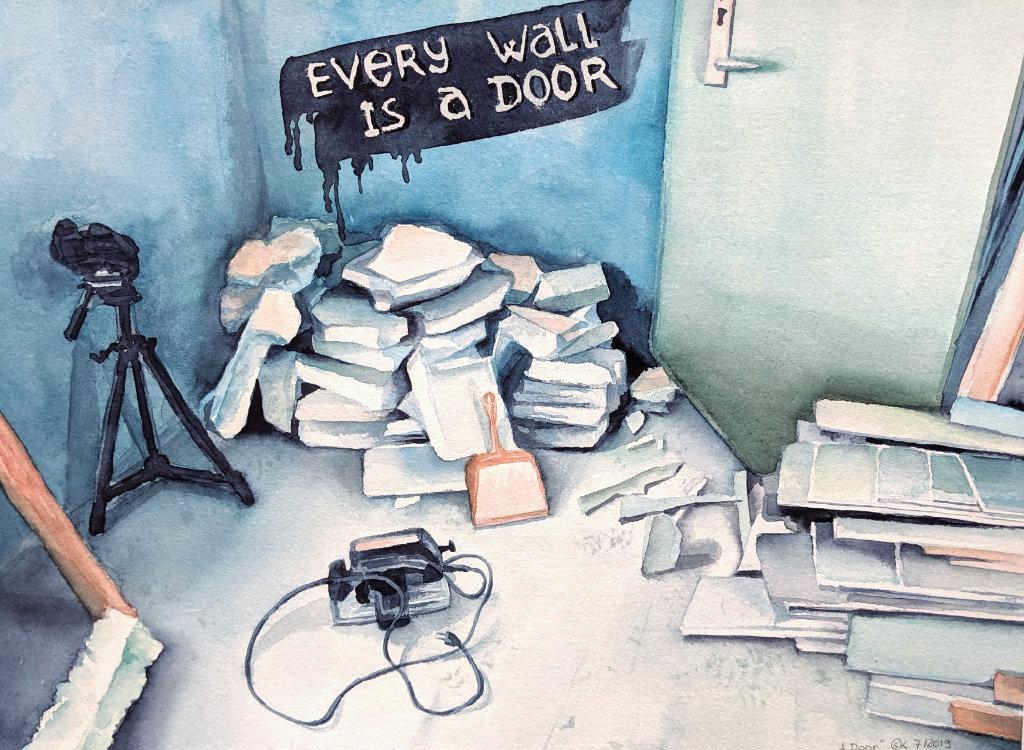 Every wall is a door (Aquarellpapier, 24x32cm)