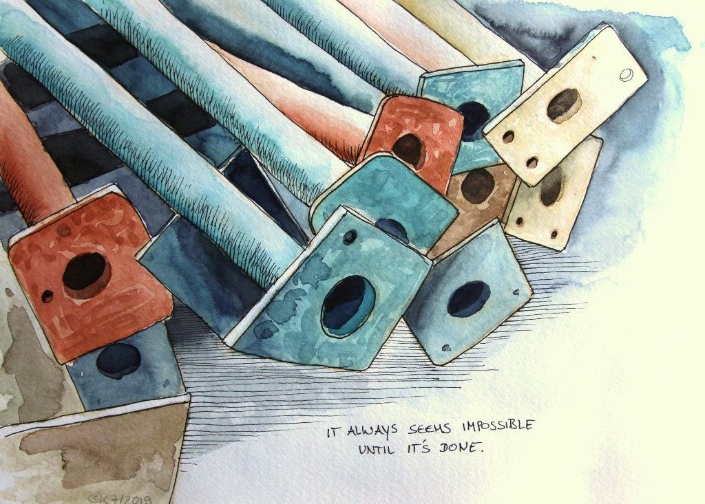 Stahlträger (Aquarellskizzenbuch)