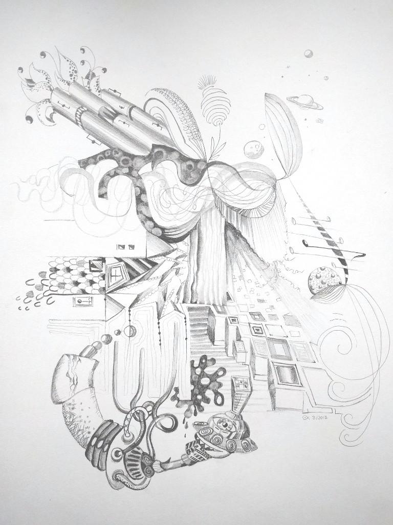 Phantasie (Skizzenblock, 30x40cm)