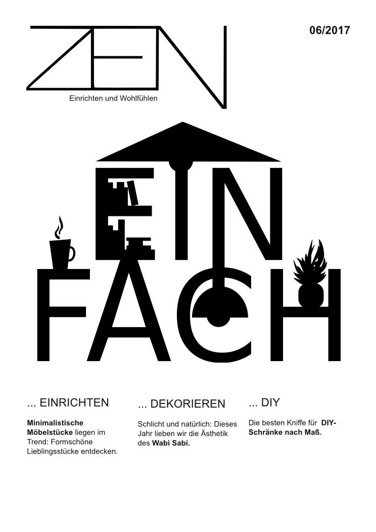 Magazincover - typografisch (Layout und Editorialdesign)