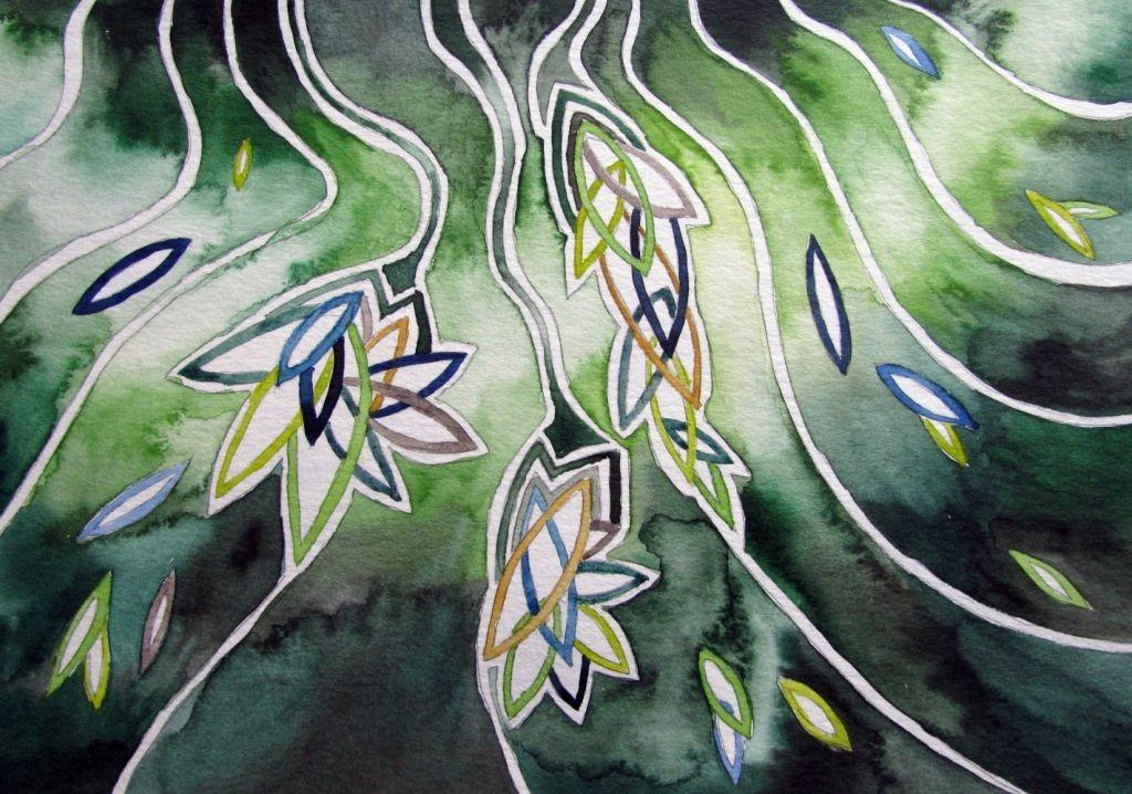 Hoffnungsblätter (Aquarellpapier, 17x24cm)