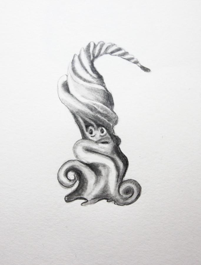 """Knonster """"Quirle"""" (Zeichenpapier, 10x10cm)"""