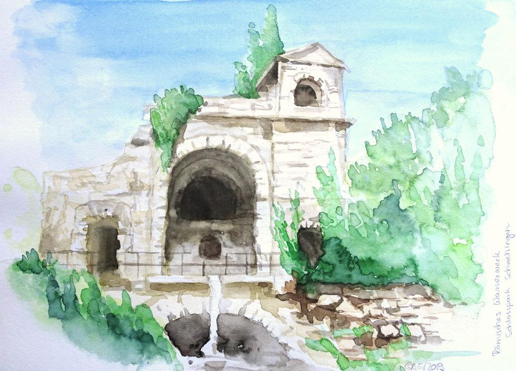Römisches Wasserwerk Schwetzingen (Aquarellskizzenbuch)