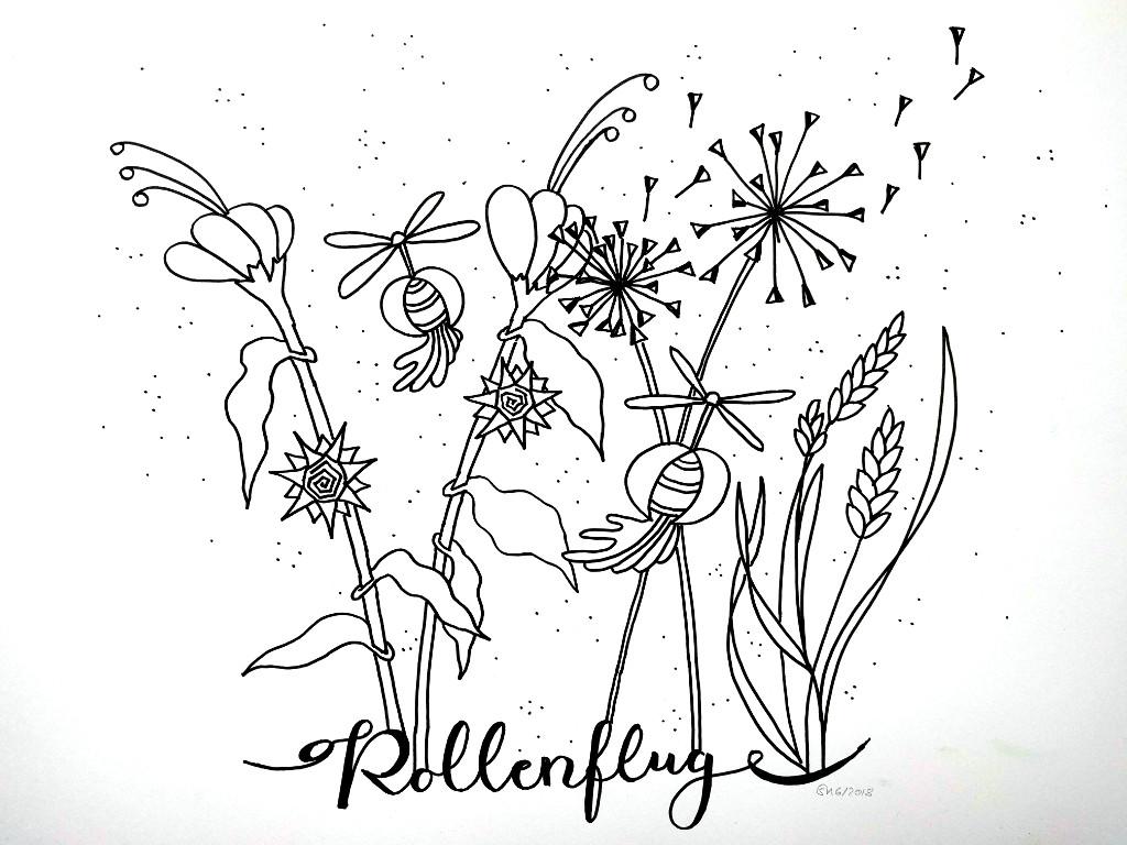 Pollenflug (Skizzenblock, 30x40cm)
