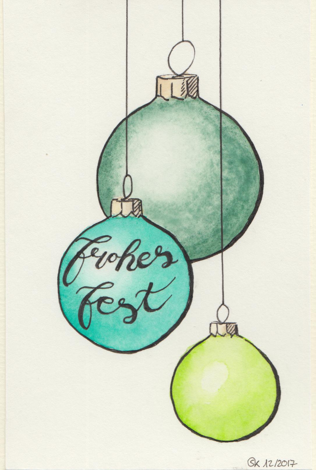 """Weihnachtskarte """"Christbaumkugeln"""""""