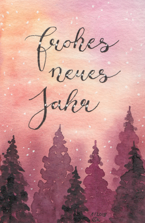 """Neujahrskarte """"Wald"""""""