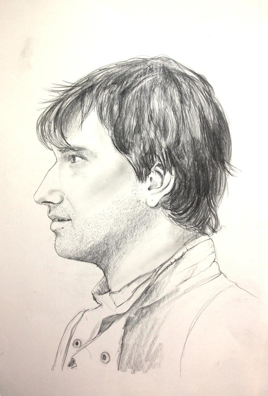 Adrian im Profil (Zeichenpapier, 30x40cm)