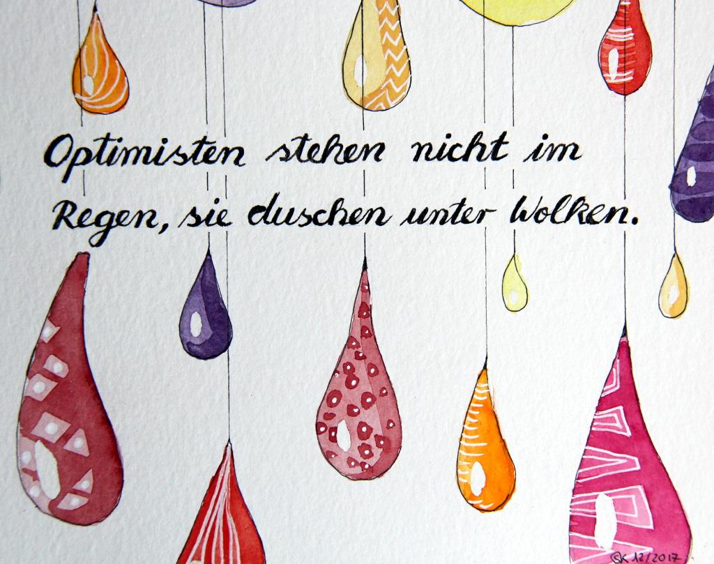 Optimisten (Aquarellpapier, DIN A5)