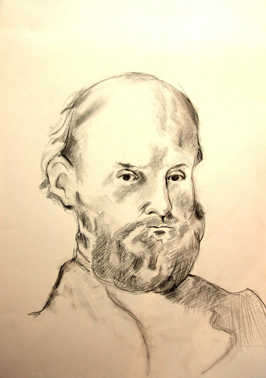 Alter Mann (Zeichenpapier, 30x40cm)