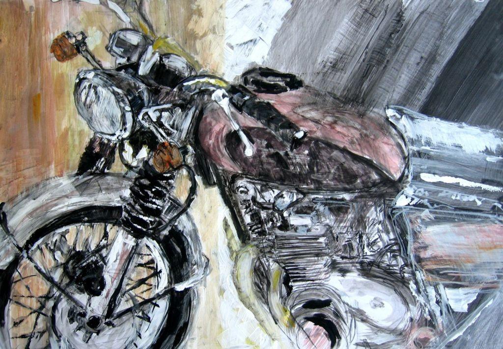 Motorrad (Malpapier, DIN A1)