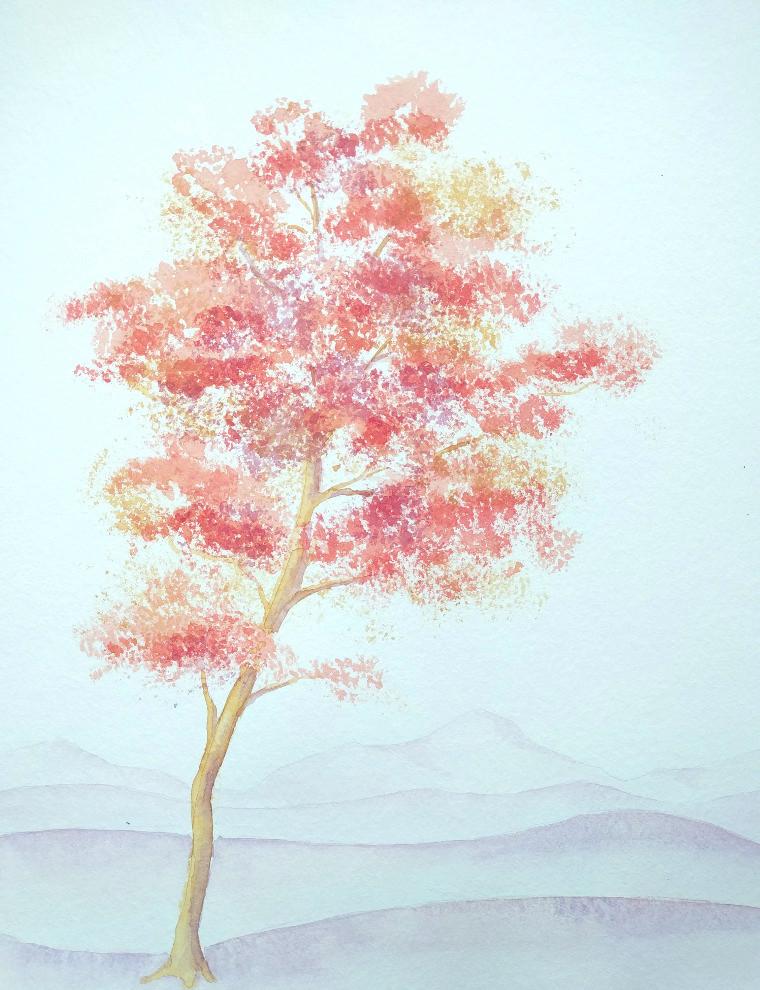 Herbstbaum (Aquarellpapier, 30x40cm)