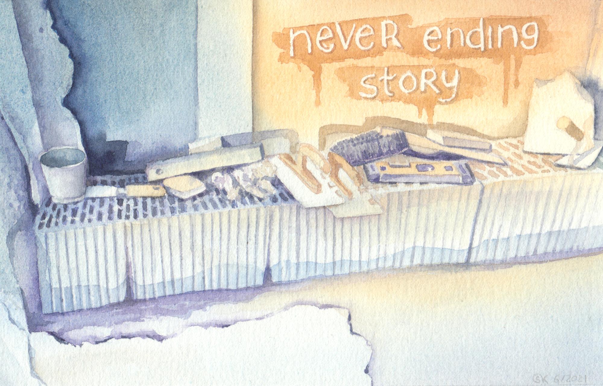 Never ending story (Aquarellpapier, 14x21 cm)