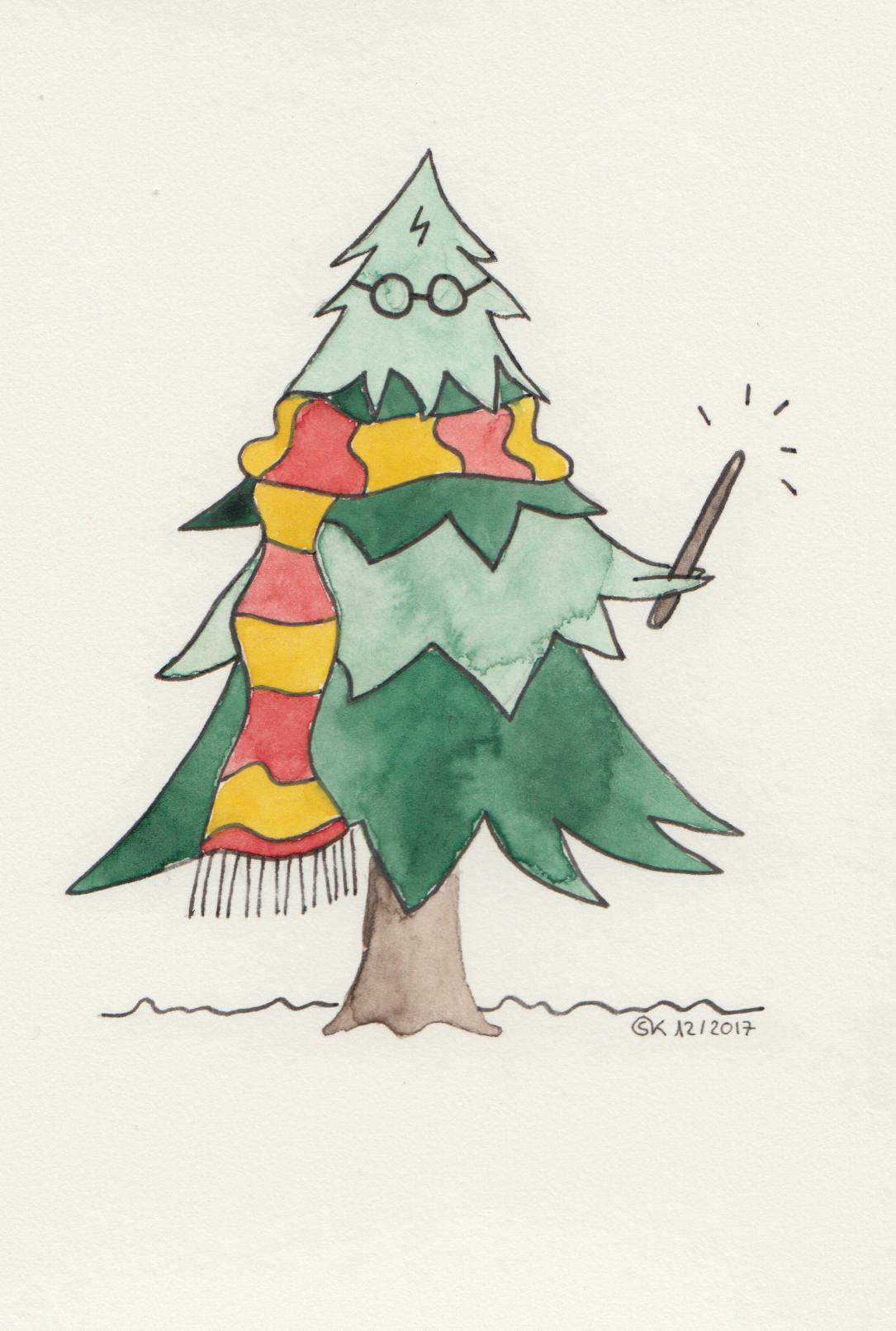 """Weihnachtskarte """"Harry Potter"""""""