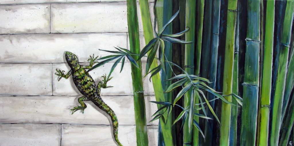 Bambus (Leinwand, 40x80)