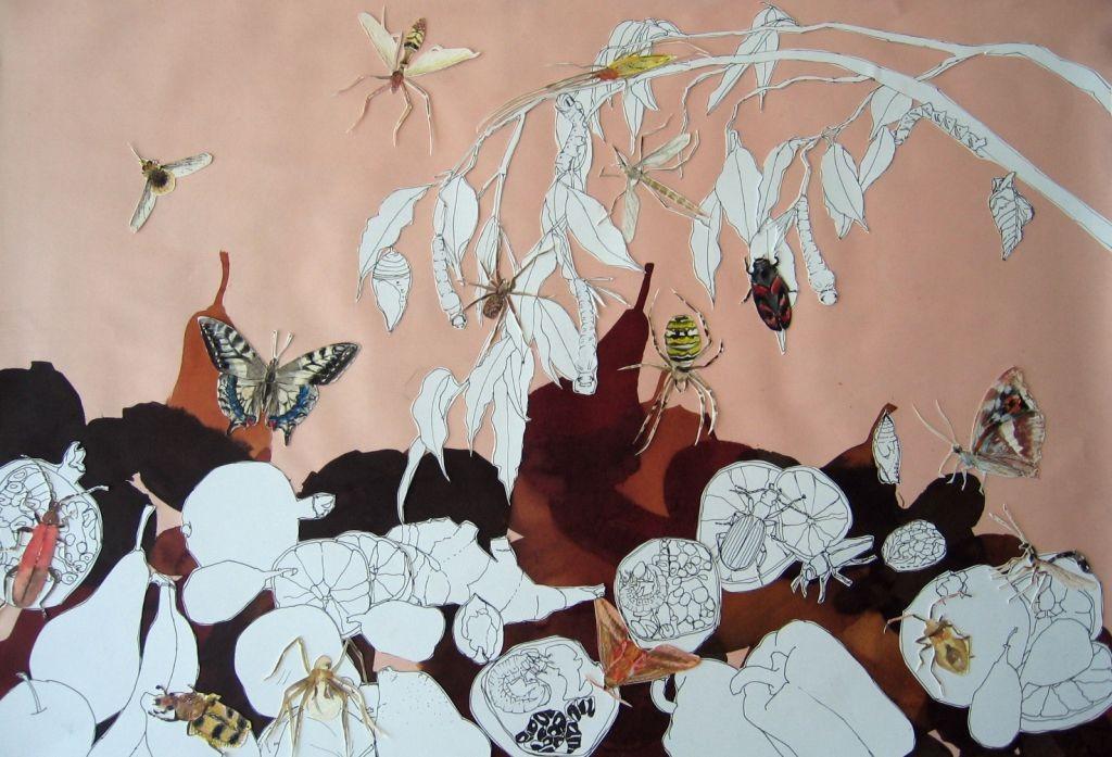 Insektencollage II (Skizzenblock, 40x60cm)