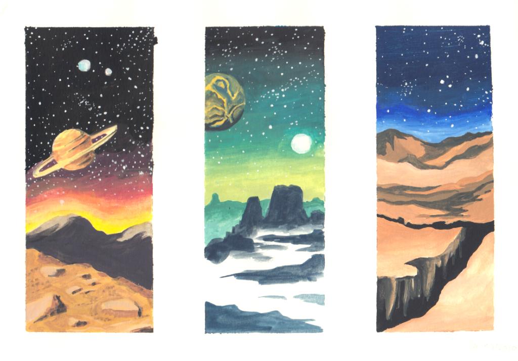 Weltraum Skizzen (Skizzenbuch)