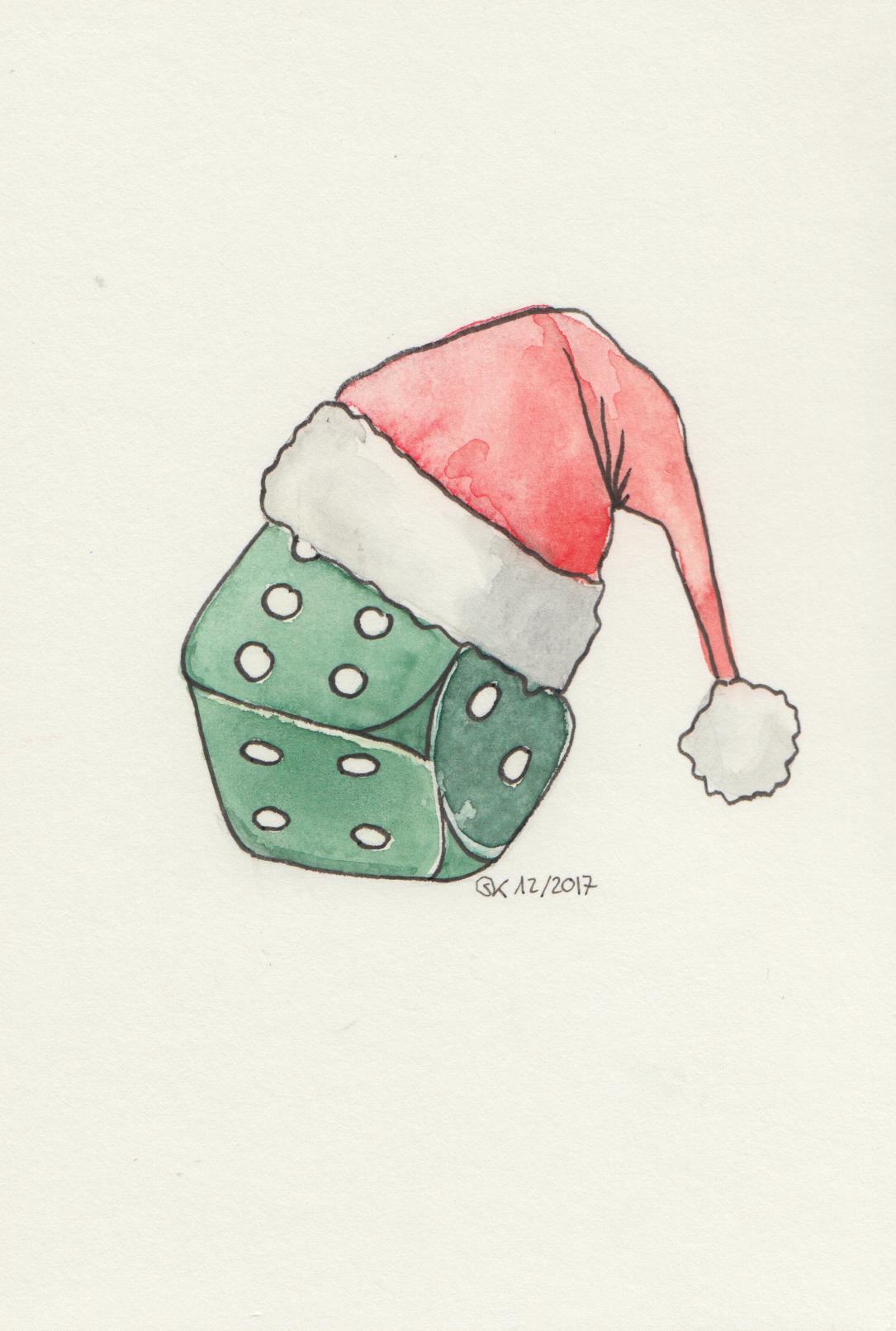 "Weihnachtskarte ""Würfel"""