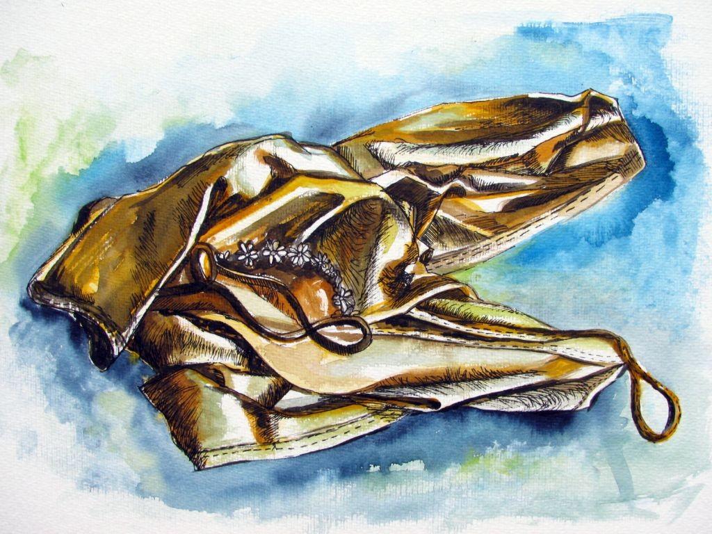 Hemdchen (Aquarellkarton, 30x40cm)