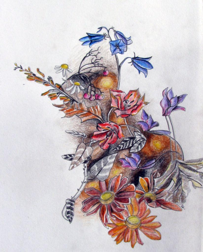 Sommernachtsflora (Zeichenpapier, 21x29cm)