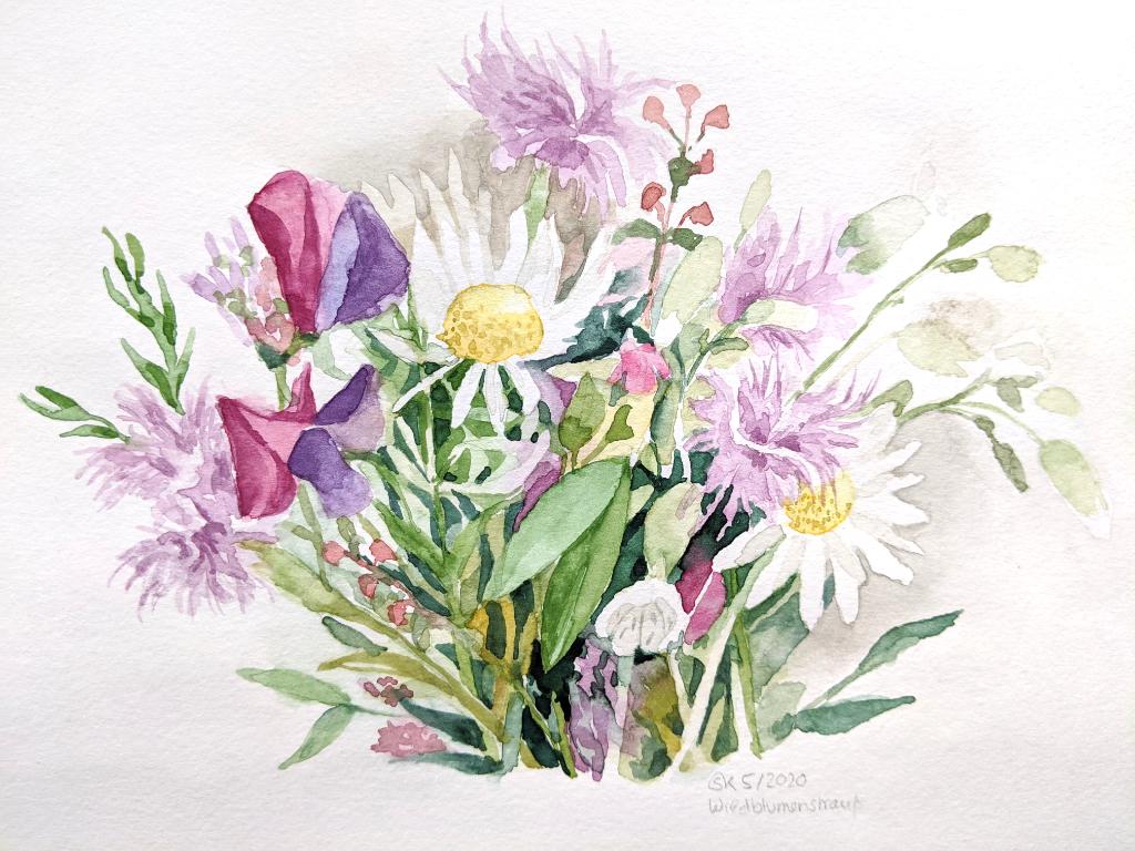 Blumenstrauß (Aquarellskizzenbuch)