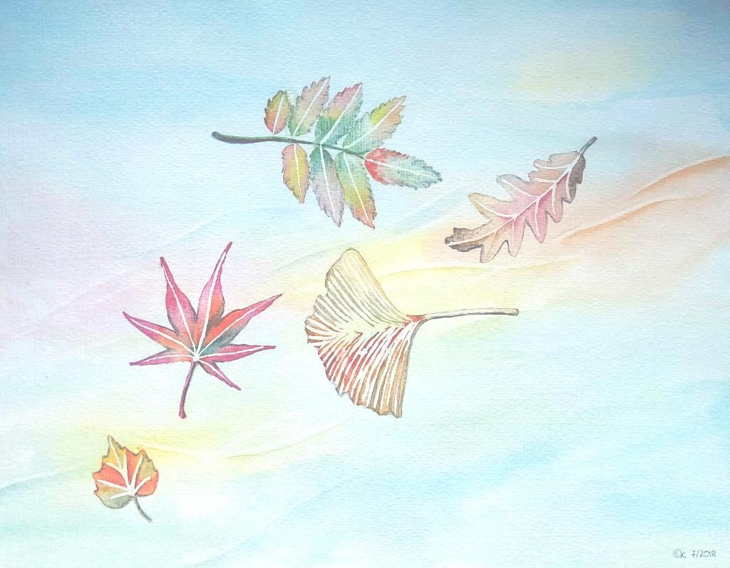 Herbstwind (Aquarellpapier, 30x40cm)