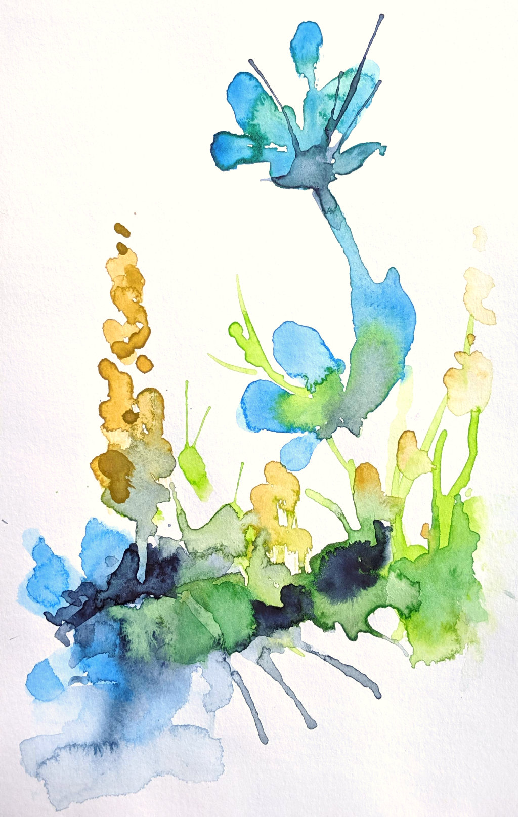 Klecksübung I (Aquarellskizzenbuch)