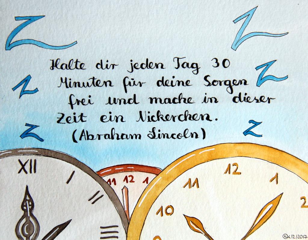 Zeit nehmen (Aquarellpapier, DIN A5)