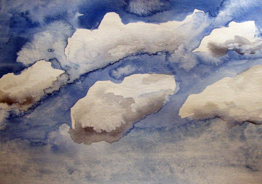Wolken (Aquarellpapier, 17x24cm)