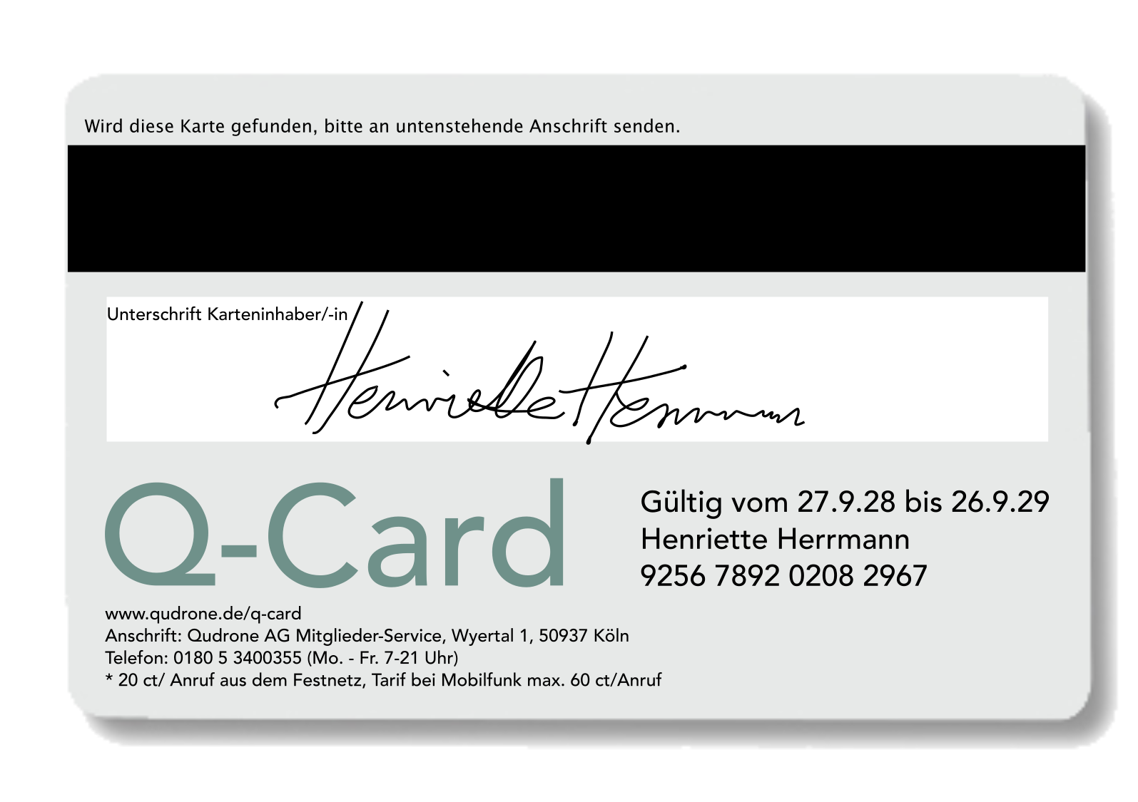 Corporate Design (Q-Card)