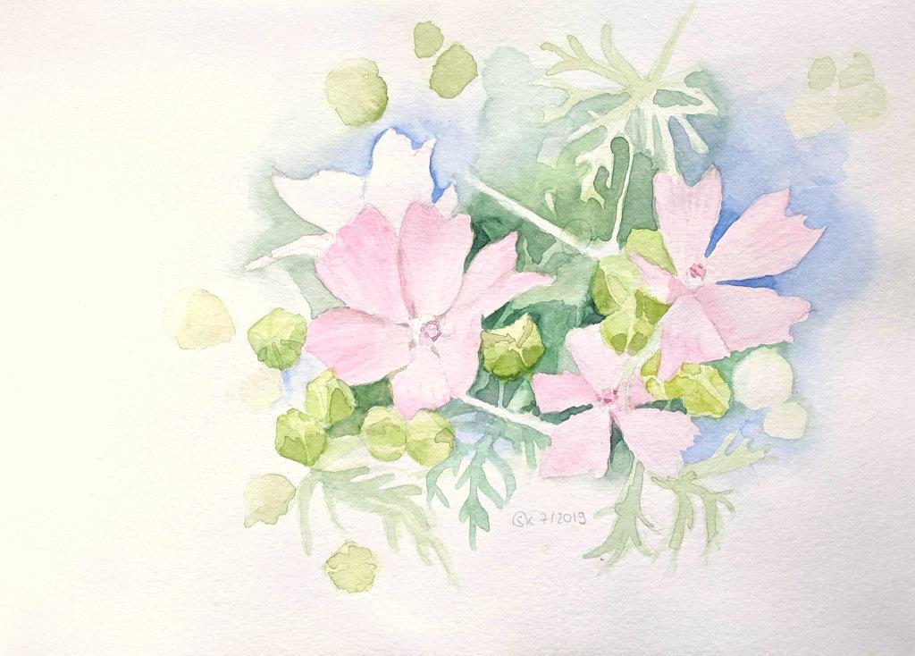 Blumen im Garten (Aquarellskizzenbuch)