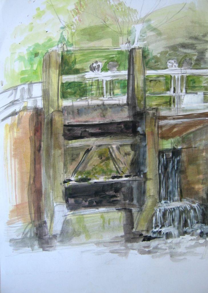 Staudamm (Zeichenpapier, DIN A1)