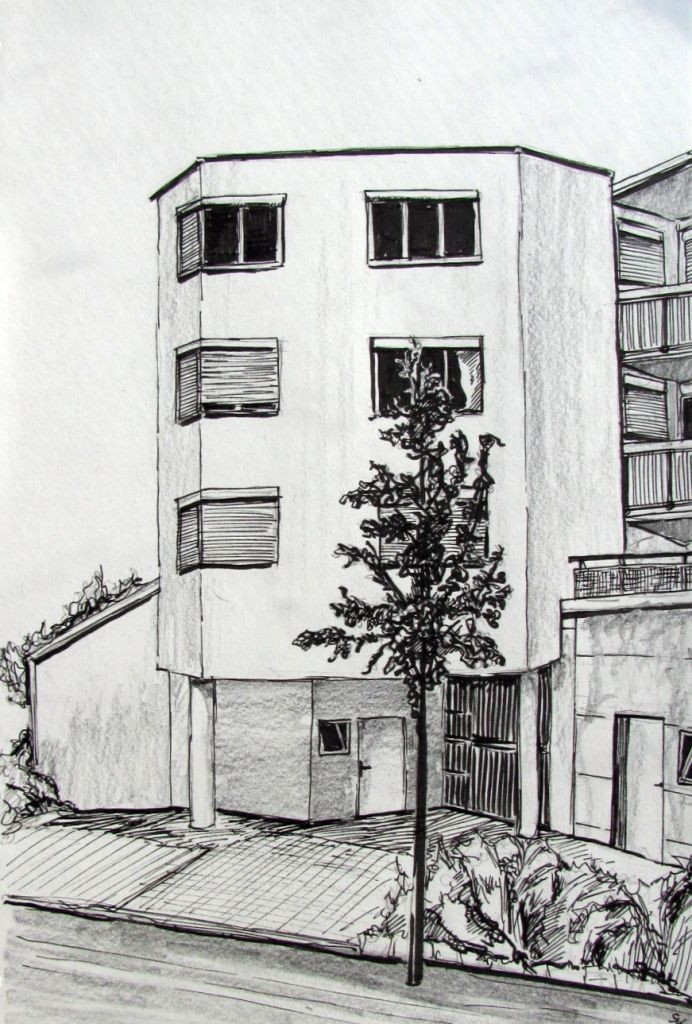 Haus in der Virchowstraße (Skizzenblock, 30x40cm)