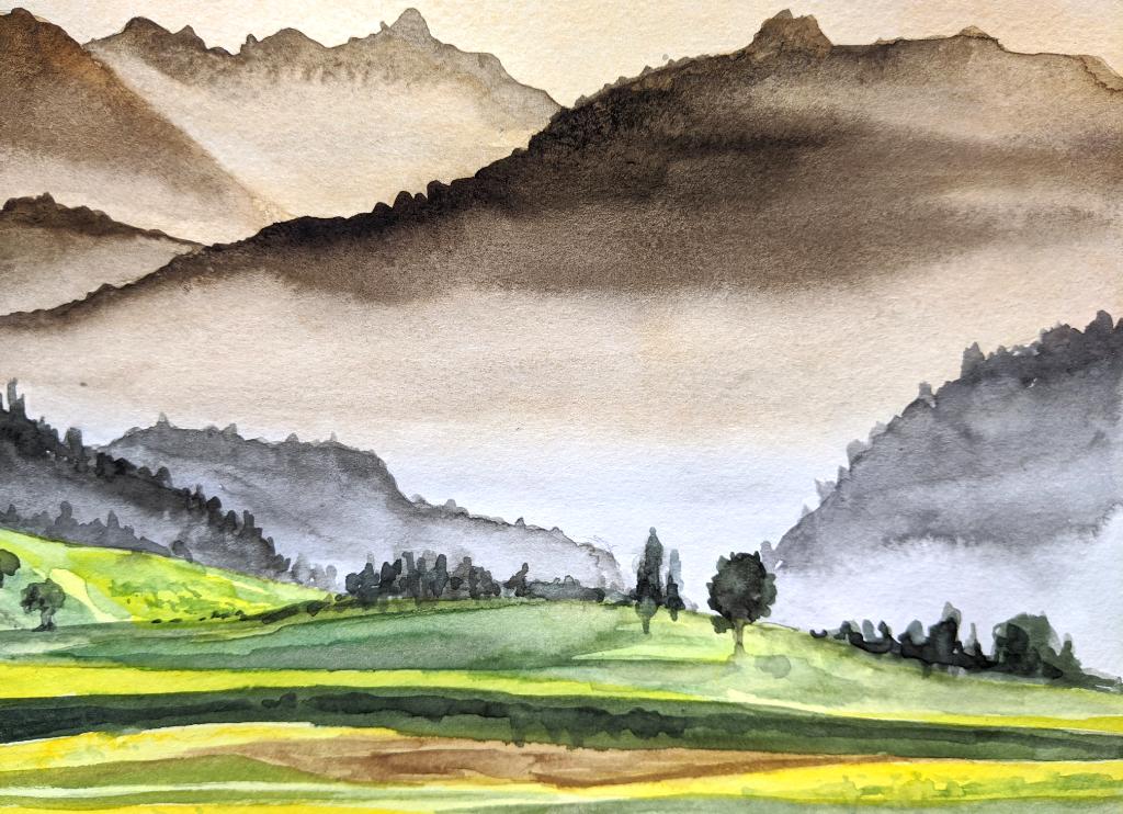 Nebelberge (Aquarellskizzenbuch)