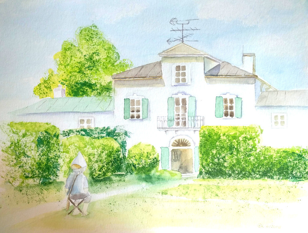 Ebenböckhaus im Juni (Aquarellpapier, 30x40cm)