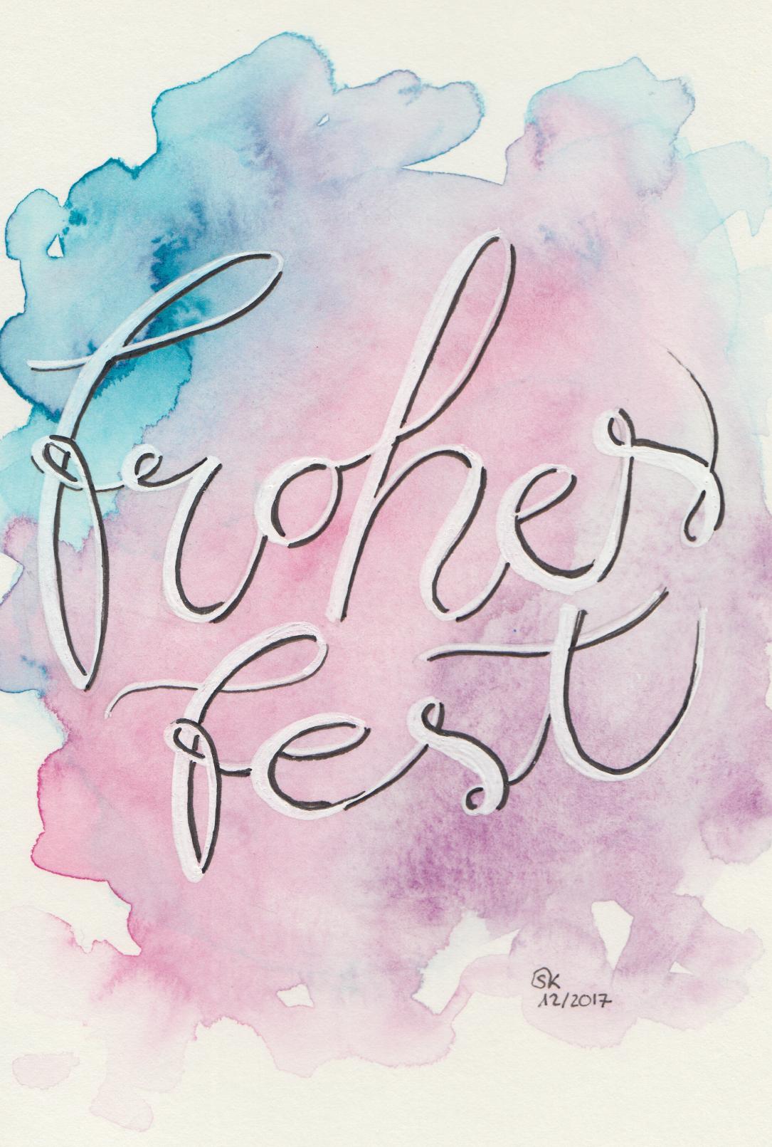 """""""Weinachtskarte """"Frohes Fest"""""""