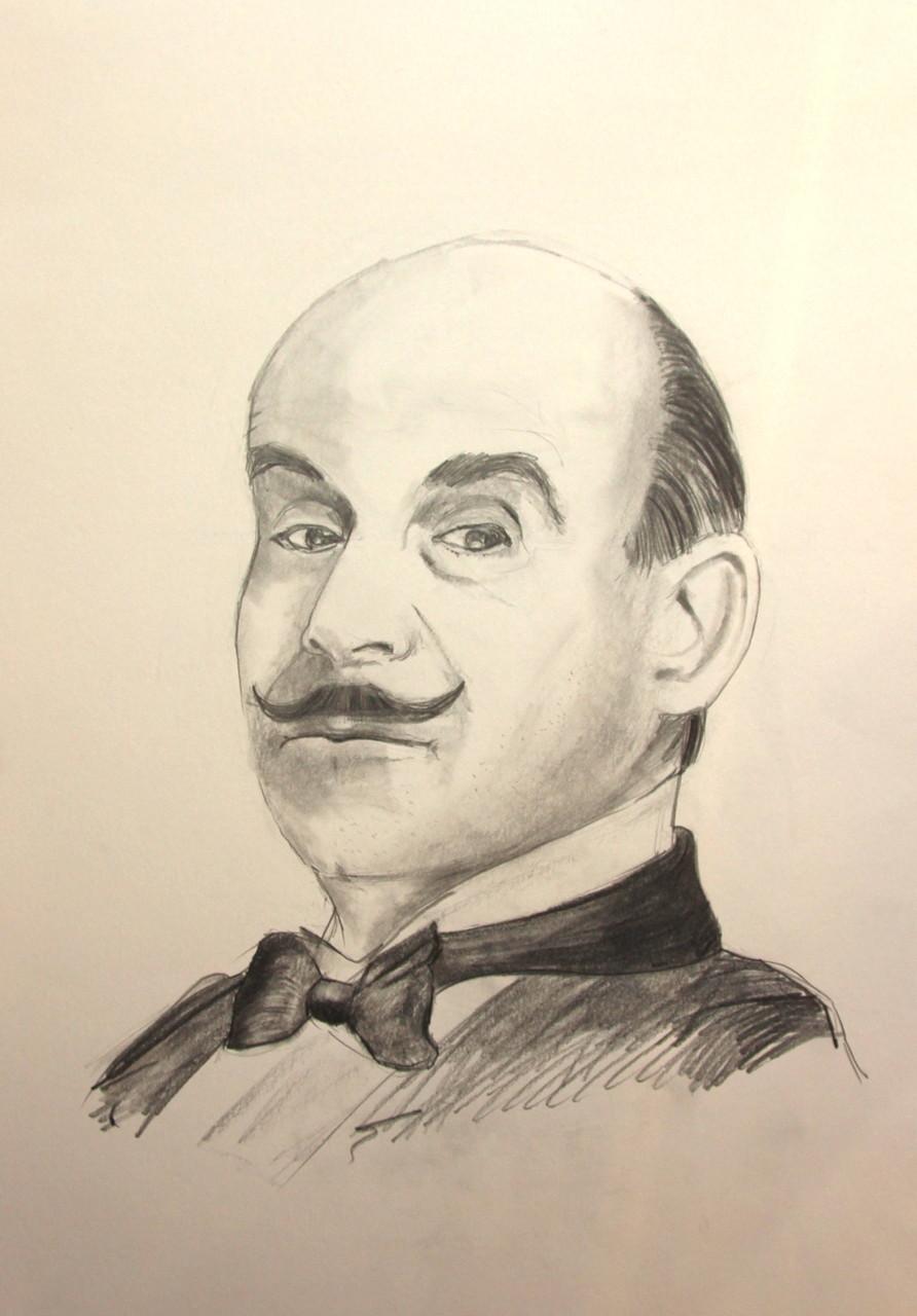 Hercule Poirot (Zeichenpapier, 30x40cm)