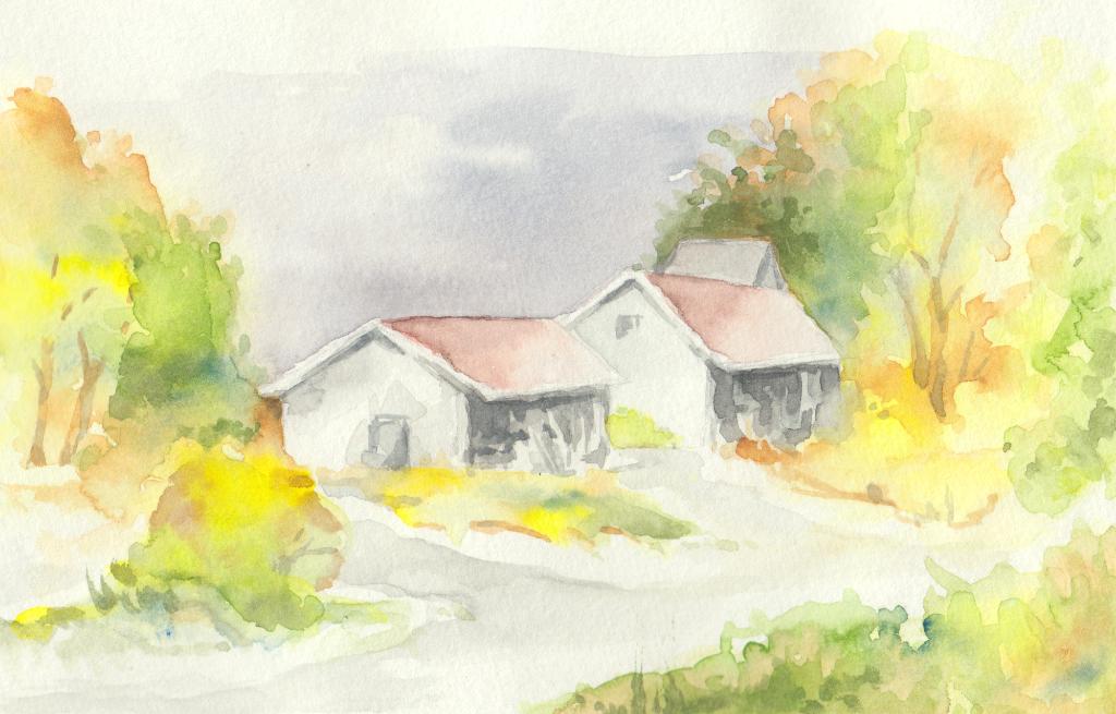 Häuser (Aqaurellskizzenbuch)