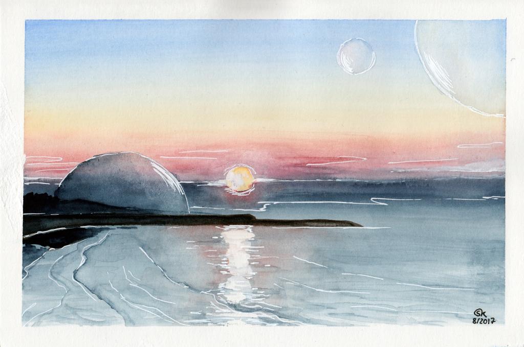 Irgendwo und Nirgendwo (Aquarellpapier, 14x22cm)