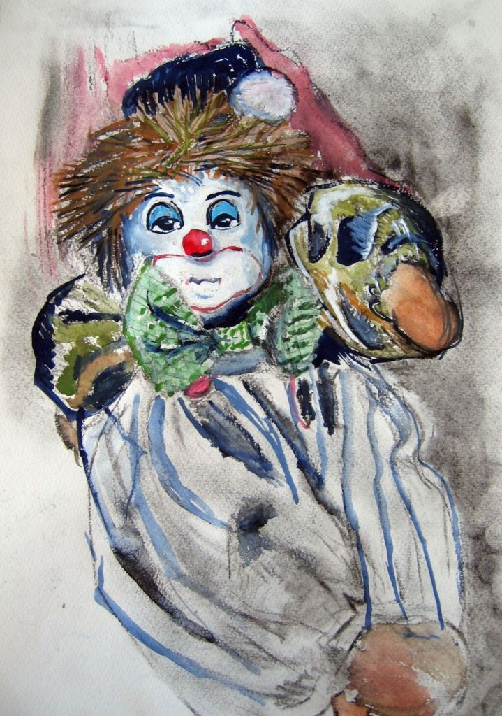 Clown (Aquarellpapier, 17x24cm)